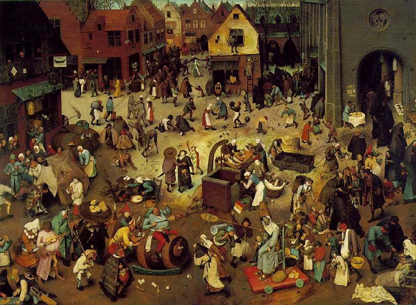P. Breughel d. Ä.:Carnival und Fastenzeit