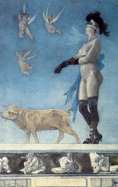 Flicien Rops: Pornocrates