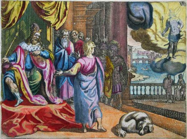 Daniel 2,31-36 aus der Merian-Bibel